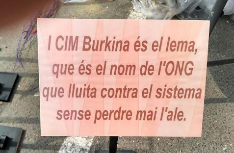 """""""CIM Burkina es el lema y nombre de la ONG que lucha contra el sistema sin perder el aliento"""""""