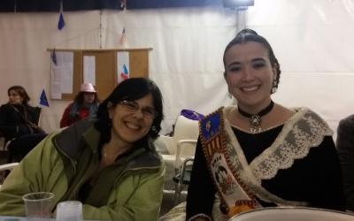 Mit Carmen, der Fallera Mayor. Danke!!