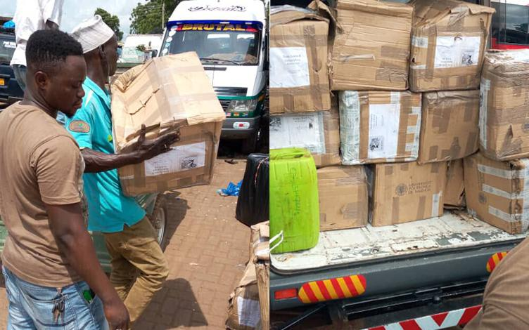 Transporte de los equipos de Tamalé a Gaoua